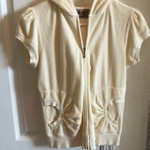 Juicy Couture hooded short sleeved top.